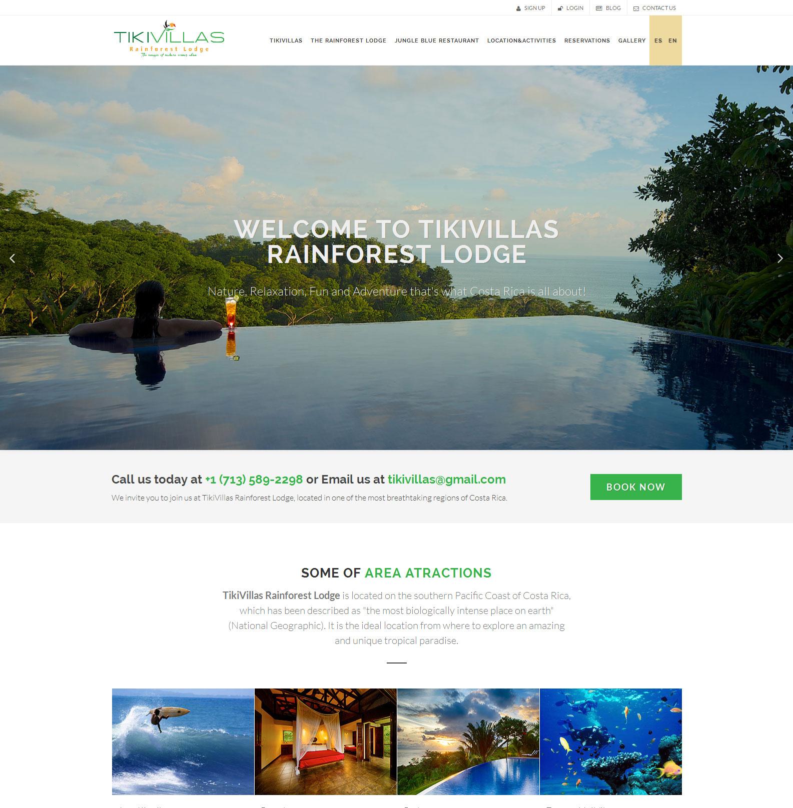 TikiVillas Rainforest Lodge screenshot