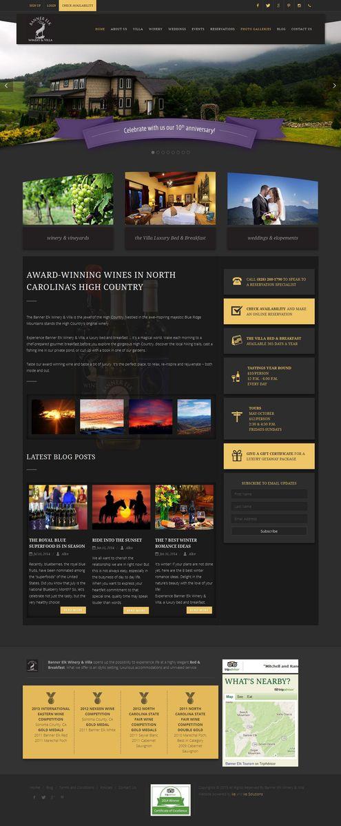 Banner Elk Winery & Villa screenshot