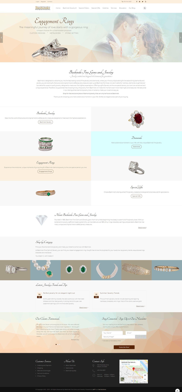 Bashinski Fine Gems and Jewelry screenshot
