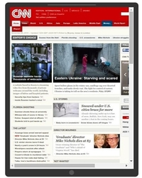 CNN.com rendered on tablet