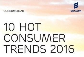 Cover of Ericsson ConsumerLab report '10 Hot Consumer Trends 2016'