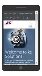 kesolutions.biz rendered on phone