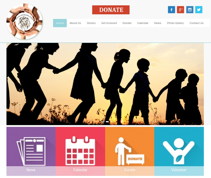 Lyon website homepage, designed by ke Solutions