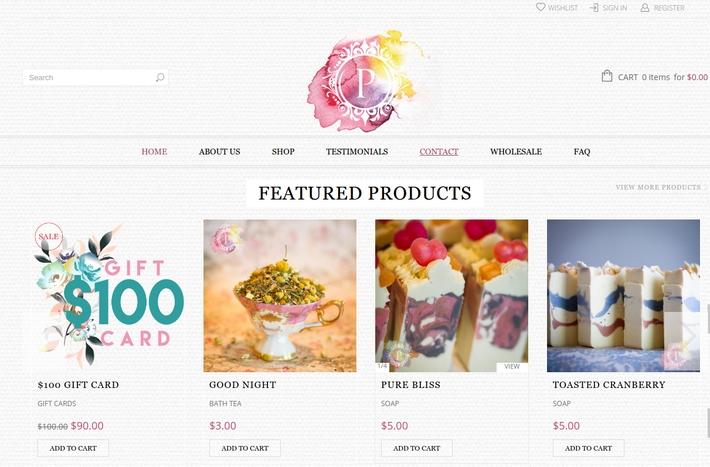 Poepa soap website, built by ke Solutions