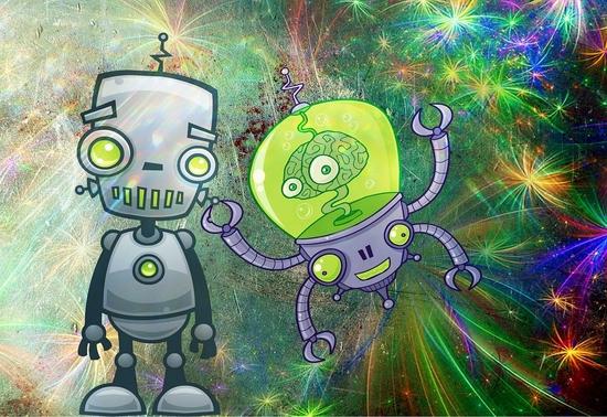 Robots, by Anja Osenberg via Pixabay.com